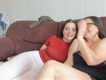 Two fat girlfriends show their bodies on camera